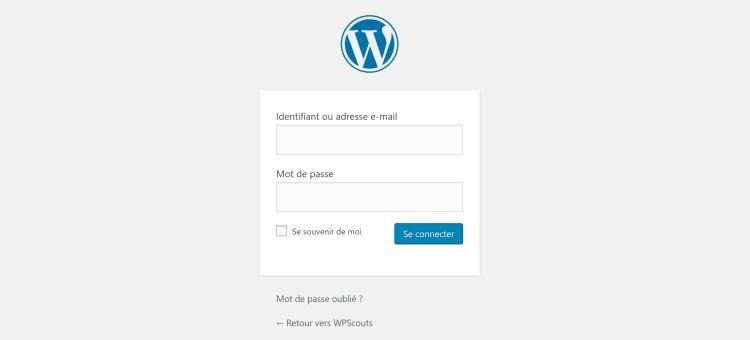 changement adresses de connexion wordpress