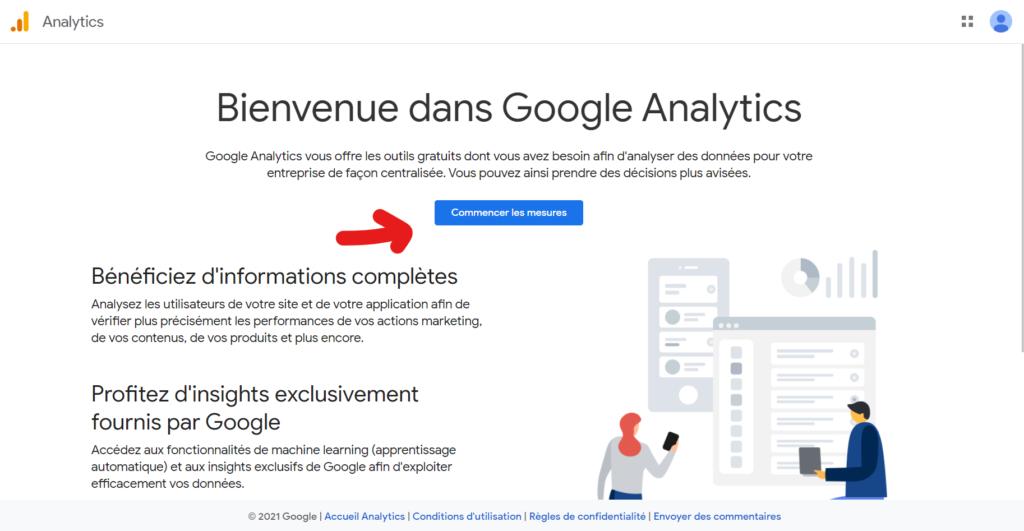 inscription à google analytics