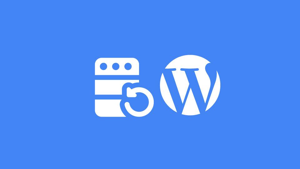 restaurer une sauvegarde saine de son site wordpress