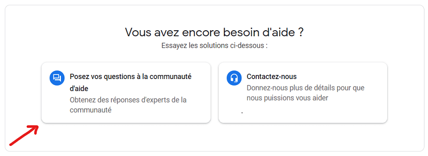 Poser vos questions à la communauté Google My Business