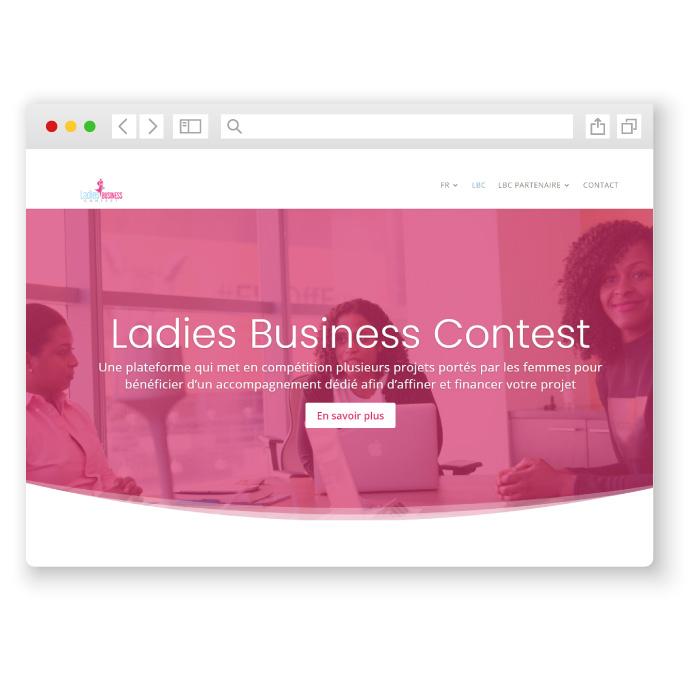 Ladies business contest  réalisation de l'agence crodde